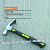 H-139 Construção pega de aço ferramentas manuais de hardware incorporado um martelo de garra com alça de borracha