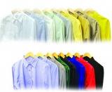 Tessuto pettinato della camicia della pianura del cotone del poliestere di qualità