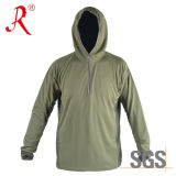 China-Bambuskohlenstoff-Faser-Fischen Hoody T-Shirt (QF-962)