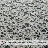 Ткань шнурка белого хлопка флористическая для одежды (M5071)