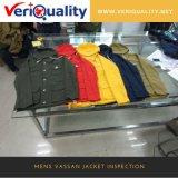 Качественный контрол куртки Vassan Mens, обслуживание выборочной проверки в Китае