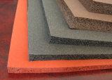лист губки силикона 1.5-50mm x 1-1.5m x 1-20m, лист пены силикона с близкой губкой силикона клетки, 10-30shore a, 0.5-1.0g/cm3, подпирая прилипатель США 3m