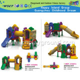 子供の販売(HD-W-483)のための屋外のプラスチックおもちゃのスライドの運動場
