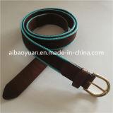Le cuir et tissu de la courroie Conbinate cautionné, mince de la courroie de sangle