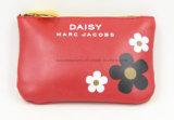 赤いPU材料は洗面所に顧客のロゴの装飾的な袋を構成する