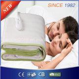 220-240Vベッド温め器のための100%年のポリエステル電気暖房毛布