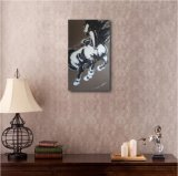 Het het Lopen Paard--Het Nieuwe Ontwerp van het olieverfschilderij