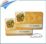 O cartão de identificação PVC cartão de identificação do funcionário de plástico