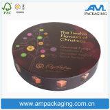 엄밀한 주문 호화스러운 선물 패킹에 의하여 인쇄되는 색깔 둥근 초콜렛 상자