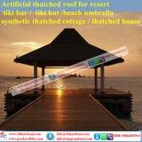 지붕을 짚으로 인 루핑으로 건축될 별장 또는 초막 또는 오두막 또는 바