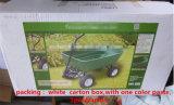 ثقيل - واجب رسم أربعة عجلات أداة عربة حديقة عربة