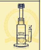 Conduites d'eau noires de tablette de sable, pipe de fumage en verre de percolateur intégré, pipe électronique en verre de nid d'abeilles de cigarette