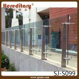 ステンレス鋼のガラス手すり(SJ-S099)を柵で囲む屋外のバルコニーおよびポーチ