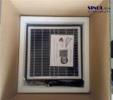 отработанный вентилятор держателя стены 20W 14inch солнечный с безщеточными мотором и переключателем (SN2015011)