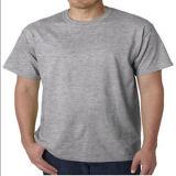 Custom Blank 100% algodão Camiseta branca simples