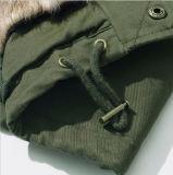 Comprimento do colar de peles de veludo Jacket para roupas de inverno