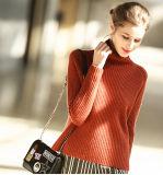 女性の方法カシミヤ織のセーターのタートルの首16brdw001