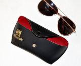 Caisse en cuir de lunettes de sac de lunetterie (HX0271A)