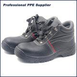 Ботинки безопасности кожи впрыски PU с стальным пальцем ноги