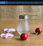 アルミニウム帽子が付いている薬剤師の瓶を揺する美のパタングラス