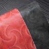 赤い花は袋のハンドバッグのための浮彫りにされた総合的なPUの革を印刷した