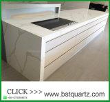 Bancada da cozinha da pedra de quartzo de Calacatta com vários perfis da borda