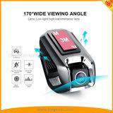 Câmera dupla 170&deg do carro da lente 1296p 15 Megapixel de WiFi da came do traço; Visão noturna larga do ângulo