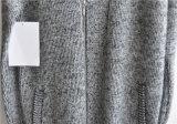 人のためのジッパーが付いている冬のV首によって編まれる長いカーディガン