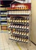 Estantes de alambre cromado inclinado para rack de visualización para supermercados