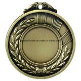 Médaille de moulage à découper personnalisée personnalisée en usine avec finition antique
