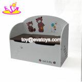 Neue Entwurfs-Spielzimmer-Einteilungs-hölzerner Kind-Spielzeug-Voorratsbehälter für GroßhandelsW08c155