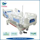 Cama de hospital larga de los carriles laterales con la función cinco