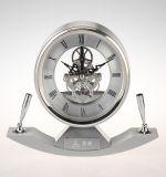 Reloj de escritorio de escritorio de metal, reloj de escritorio