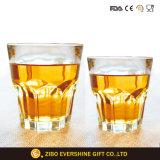 Insieme di vetro della tazza del whisky inferiore spesso di cristallo su ordinazione