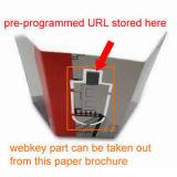 Инструкция USB ключ бумажного полотна с предварительно заданными URL Фарма диска вставьте USB