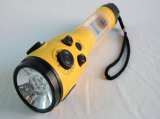 비상시용 LED Light를 가진 2015 태양 Gifts Solar Radio Solar Flashlight Torch (HT-3068)