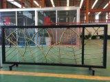 Используемая сваренная гальванизированная сталь /Ranch /Garden/Pool загородки ковки чугуна покрытия черного порошка ограждая с сплющенным копьем (ZY429)