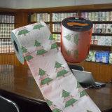 Essuie-main de papier estampé par coutume de rouleau de papier hygiénique de Noël