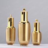 30ml 60ml 100mlの高品質の金の王冠の整形装飾的なプラスチックアクリルのローションのびん