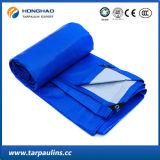 Feuille enduite de tissu de bâche de protection/bâche de protection de PE bleu de prix bas