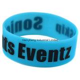 Bracelete popular personalizado do silicone da forma para o festival