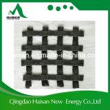 Polyester tricoté par chaîne Geogrid de la vente directe 100-100kn/M d'usine de prix bas pour des machines à paver de pelouse