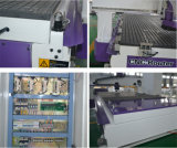 Machine de gravure de découpage de couteau de commande numérique par ordinateur de travail du bois pour le plastique en bois de forces de défense principale