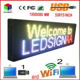 """P10 53 indicador de diodo emissor de luz ao ar livre de """"X15"""" RGB/rádio computador programável/USB/sinais sem fio móveis"""