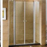 Eixo de alumínio dois porta a porta lateral para duche