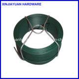 0.8mm/1.15mmの庭の使用のための深緑色PVCによって塗られるコイルワイヤー