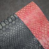 Couro do plutônio do falso da superfície da pele animal de Matt, couro artificial do saco