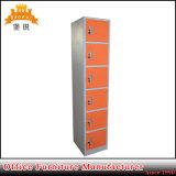 Design vertical en acier à bas prix six portes Locker
