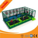 Trampolino dell'interno di ginnastica di prezzi di fabbrica per i bambini con rete