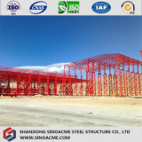 Edifício pesado da construção de aço para a oficina industrial
